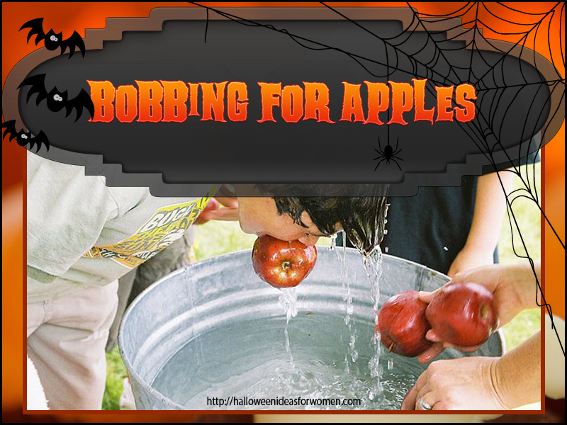 Halloween Party Ideas for kids bobbing for apples