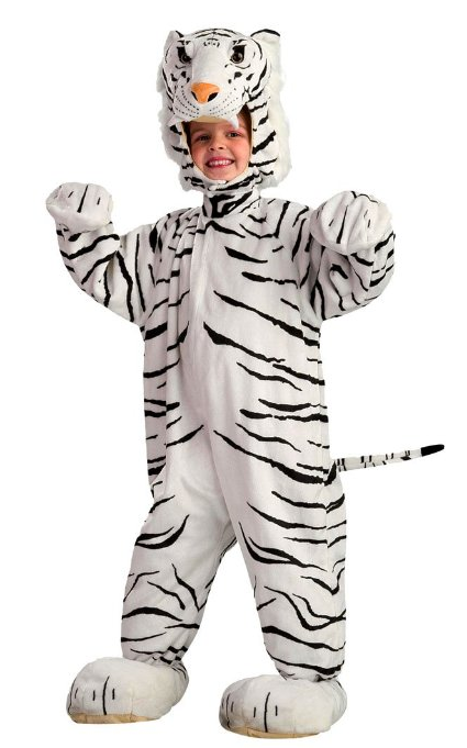 White Tiger Club Animal Costume For Kids