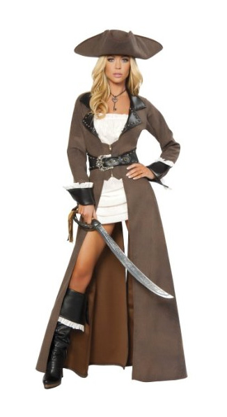 pirate costumes for women long coat