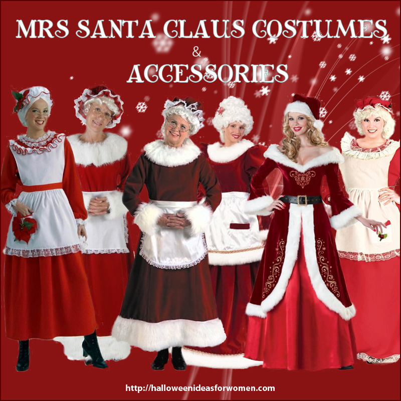 Mrs Santa Clause Costume and Accessories