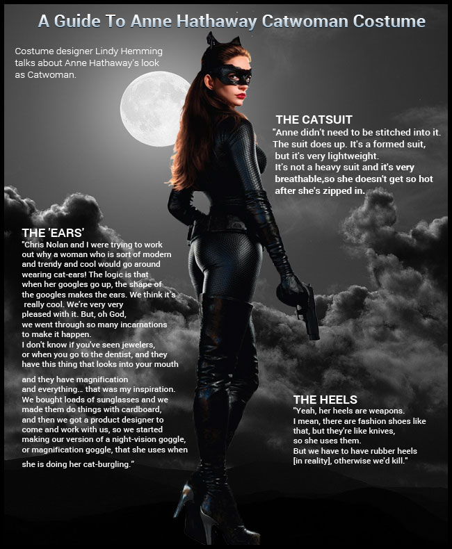 Anne Hathaway Catwoman Costume Puurrrfect