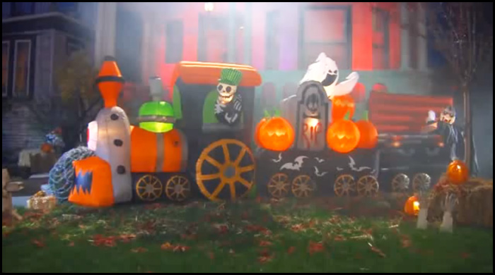 Animated Halloween Inflatable Train