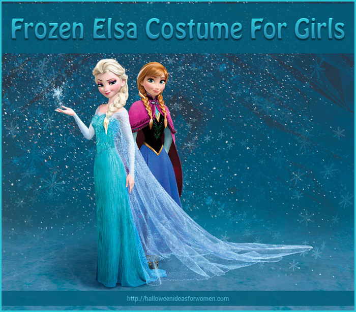 Disney Inspired Frozen Elsa Costume for Girls