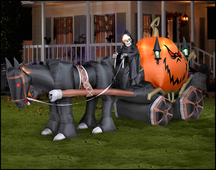 halloween inflatable yard decorations - Nightmare Before Christmas Inflatable Lawn Decorations