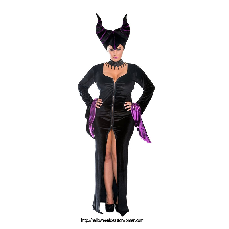 Maleficent plus size Costume-velvet gown