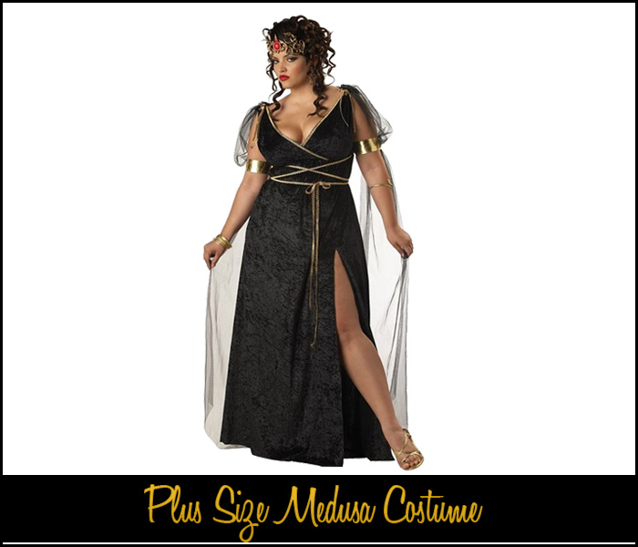 plus size medusa costume