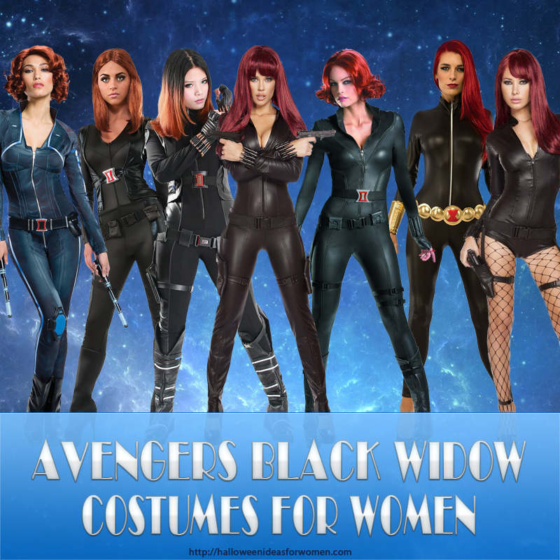 black widow costume for women