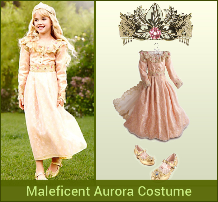 Maleficent Aurora Costume And Accessories