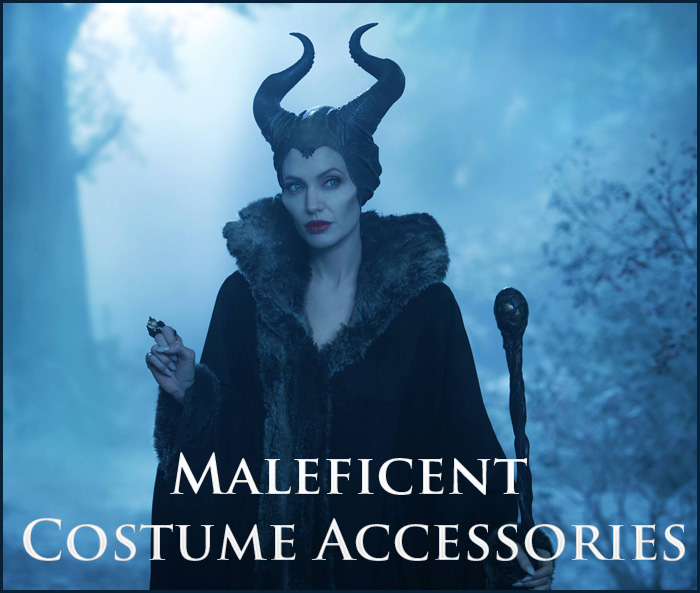 Disney Deluxe Maleficent Light-Up Glowing Staff Accessory
