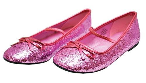 Pink Glitter Flat Shoes