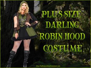 Plus Size Darling Robin Hood Costume