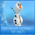 Olaf Mascot Costume To Spread Some Happiness