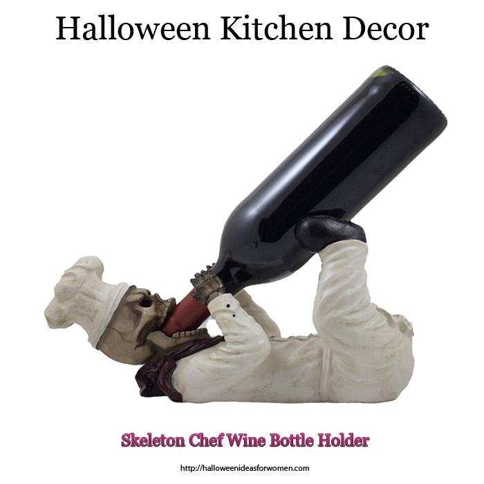 Skeleton Chef Wine Bottle Holder