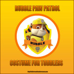 Rubble Paw Patrol Costume For Toddlers