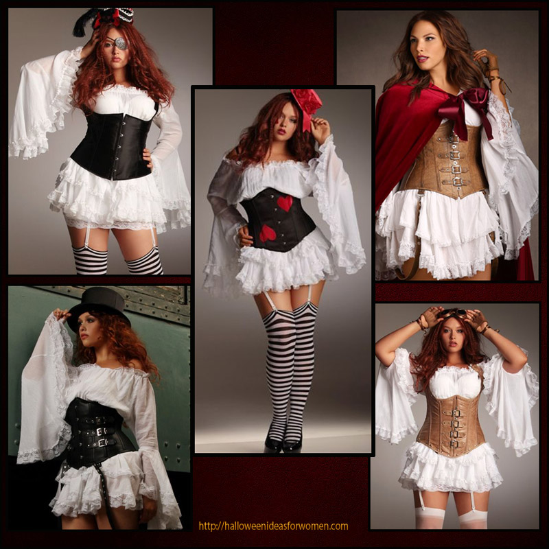 Sexy Plus Size Corset Costumes and Ideas