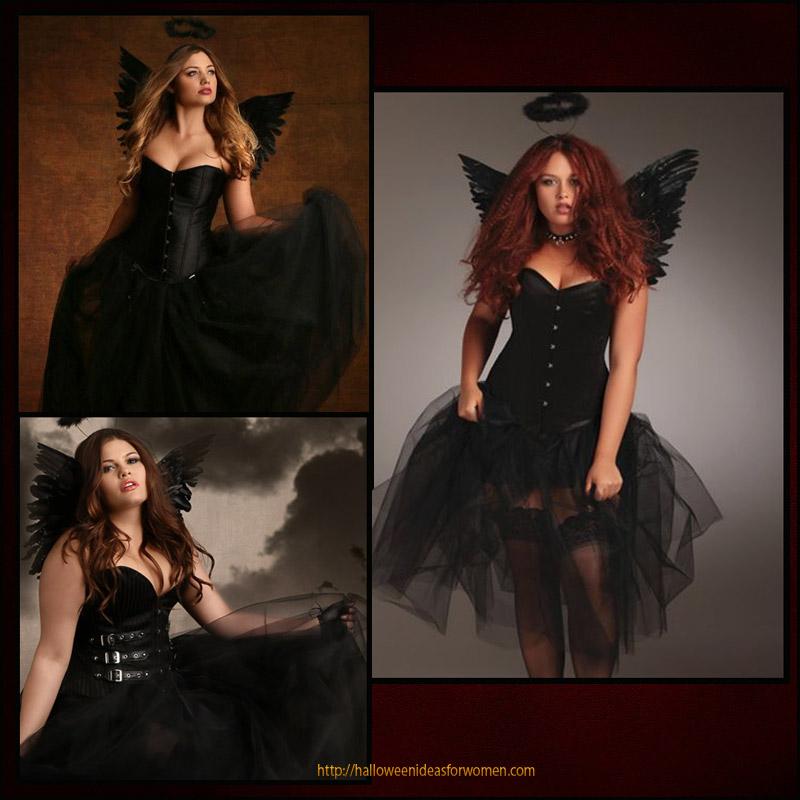 plus size corset costume-fallen angel