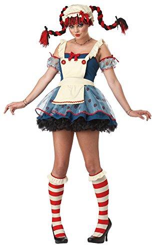 Rag Doll Raggedy Anne Halloween Women Costume