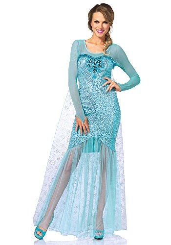 This is another beautiful Frozen Elsa costume for adults that is made of a comfy silky non scratchy material and comes in a floor length dress that has a ...  sc 1 st  Halloween Ideas For Women & Frozen Elsa Costume for Adults for Cosplay and Halloween