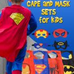 Superhero Cape and Mask Set For Kids