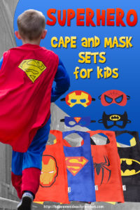 Superhero Cape and Mask Set For Kids
