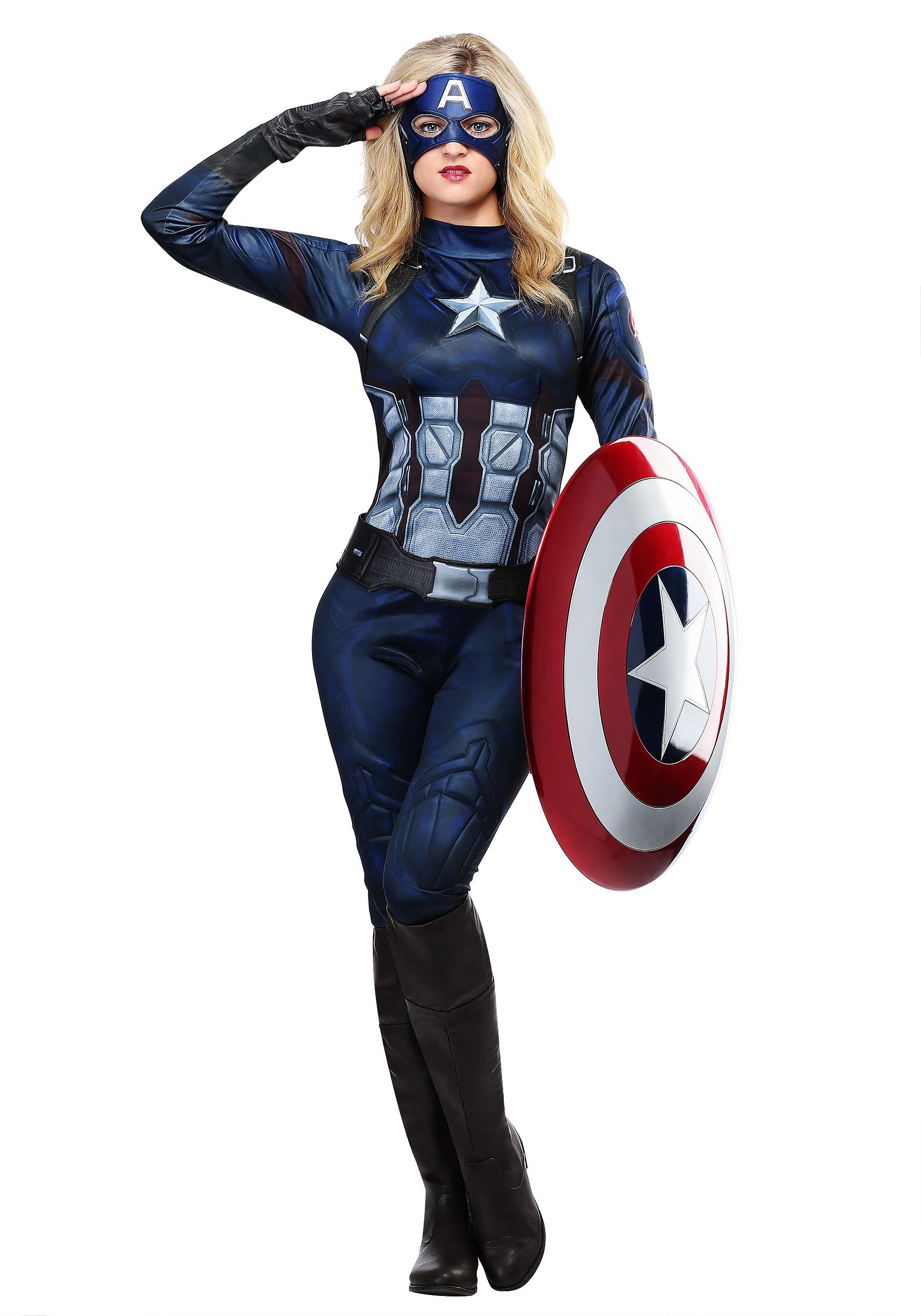 White and Blue adult or running-costume or cosplay Captain America Avengers Tutu-Red child