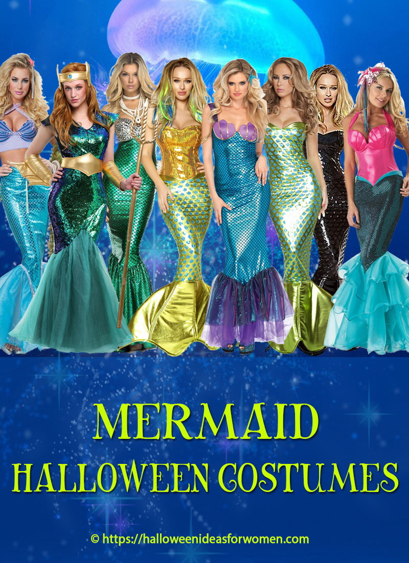 Mermaid Halloween Costumes For Women