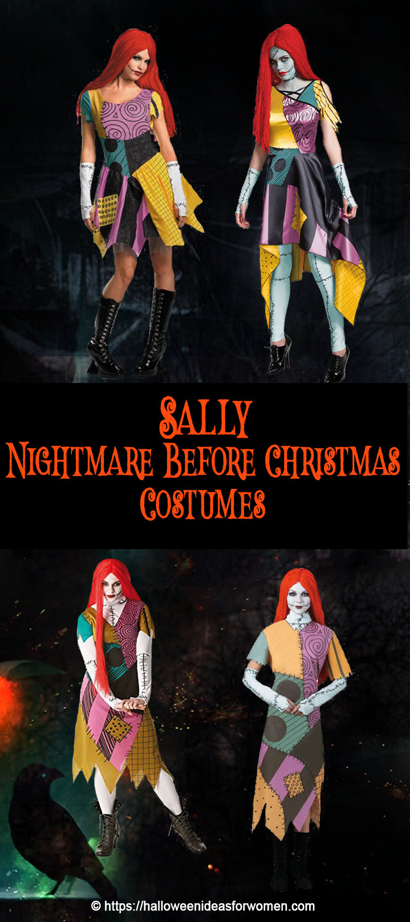 Sally Nightmare Before Christmas Costumes and Sally Makeup Tutorials