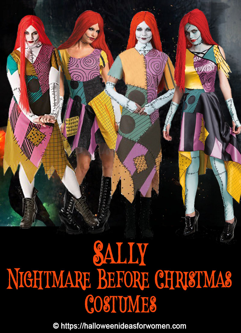 Are you looking for Sally Nightmare Before Christmas Costumes? You'll find plenty of Halloween costumes for Sally from The Nightmare Before Christmas Movie.
