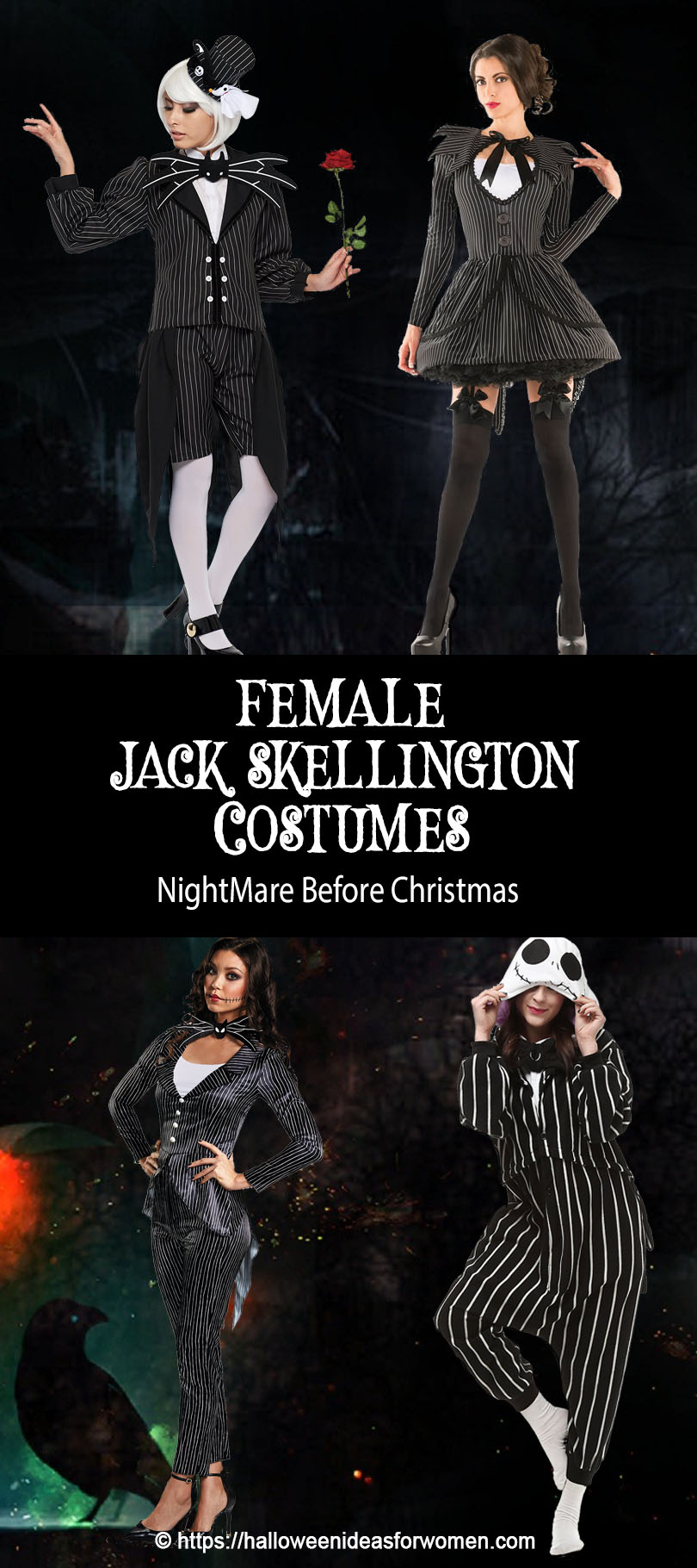 female jack skellington costume